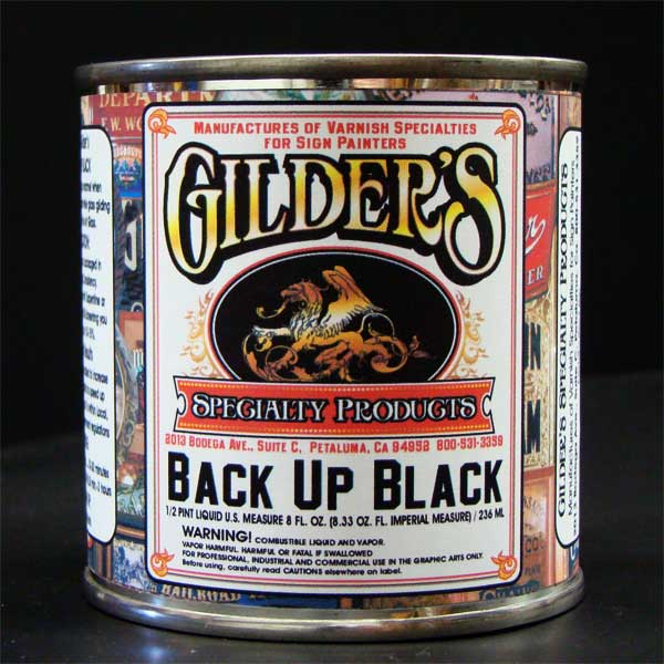 Gilders Back-Up-Black-paint-quart